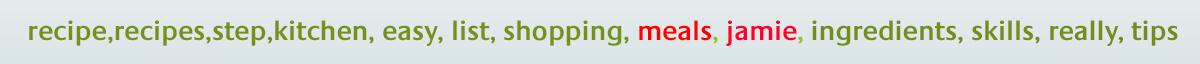 Jamie Oliver App - Optimized ASO Keywords List