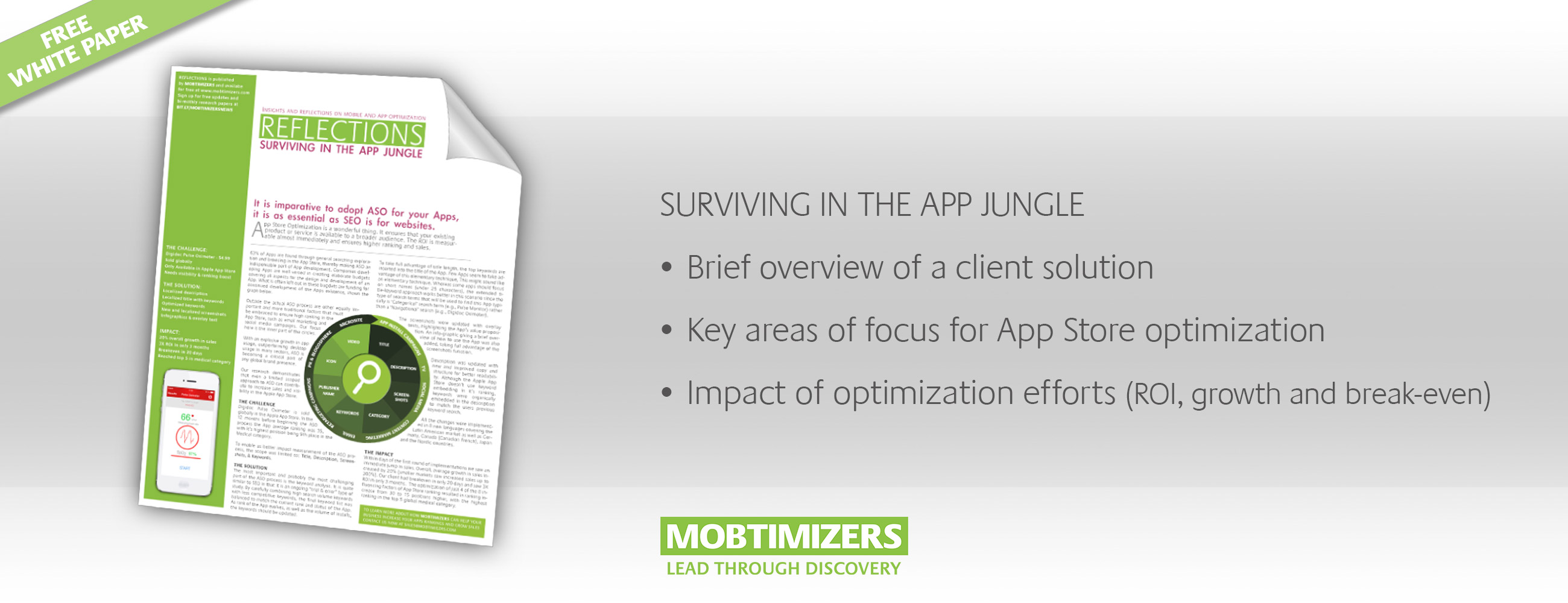 Graphic for downloading white paper: App Store Optimization Study
